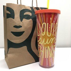 Starbucks Liquid Sunshine orange yellow tumbler